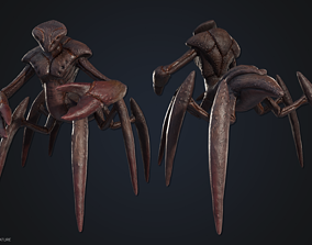 mutant 3D asset VR / AR ready Crustacean creature
