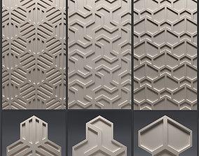 Gypsum 3D panel set 6