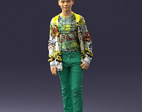 Boy in colorful clothes 0069 3D print model