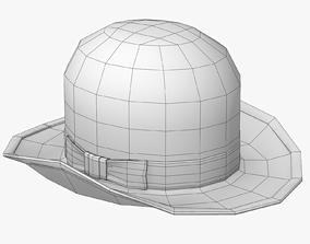 3D asset Bowler Hat Lowpoly