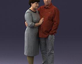 3D model Elderly couple 0204