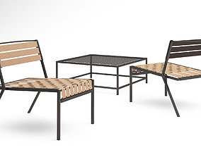 3D Stephen Kenn Sk Lounge chair and Sk coffee table