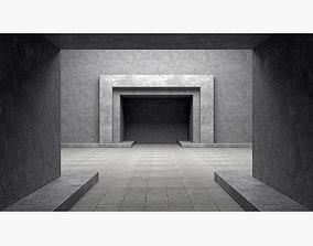 3D model Empty room interior 04