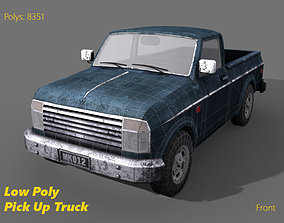 Pickup Truck - Low Poly 3D model game-ready