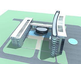 apartment-building 3D model Office Building