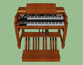 Hammond B3 Organ - Vintage Keyboard 3D