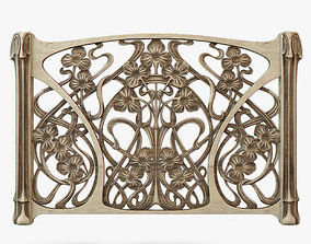 modern Art Nouveau Screen 3D printable model