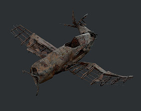Plane Wreck Damaged Apocalyptic Game Ready 01 3D asset