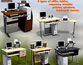 3D asset game-ready Office Set