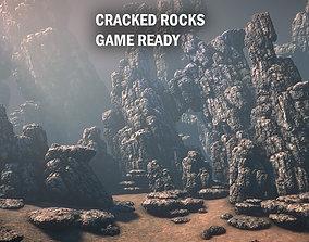 3D model Cracked rocks