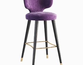 Elle High stool 3D