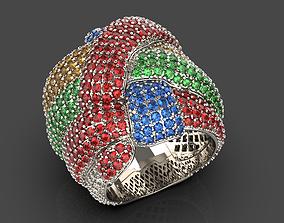 3D print model Ring in stones