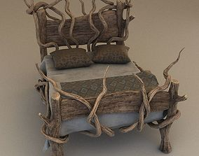 Fantasy bed 3D interior