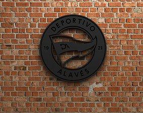 Deportivo Alaves Logo 3D