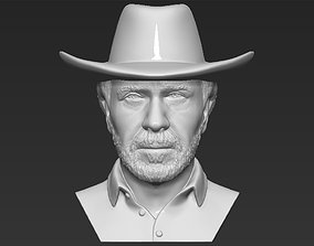 Chuck Norris bust 3D printing ready stl obj formats