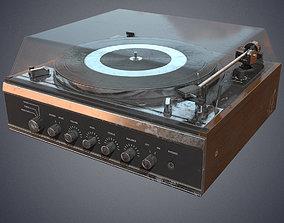 Gramophone retro 3D asset