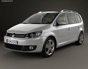 3D Volkswagen Touran with HQ interior 2010