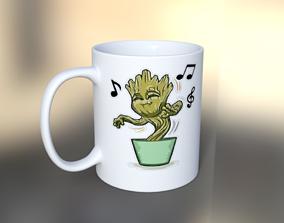 Cup Groot 3D asset