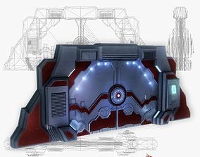 Spaceship gates low poly simple 3D asset