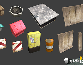 Game Ready Lowpoly Props 3D model