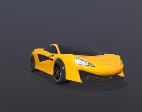 McLaren 570s Sport Car Low Poly 3D model