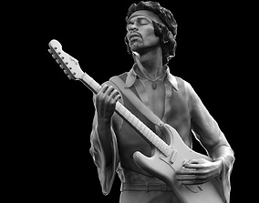 Jimi Hendrix musician 3D printable model