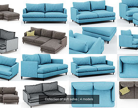 Collection of soft sofas 3D model