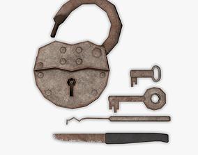 Lock And Keys 3D model