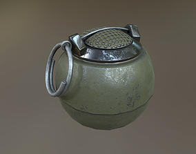 3D asset T-13 Beano Grenade USA PBR Midpoly