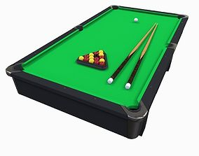 Pool Table 3D asset