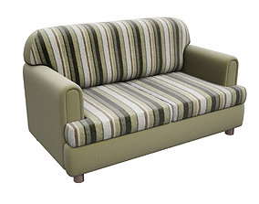 3D asset Sofa Drezden