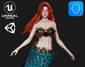 3D model Mermaid - Game Ready