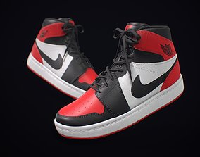 Sneaker Nike Air Jordan Red White 3D model VR / AR ready