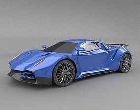 Nexeno sportscar 2nd generation 3D coupe