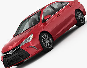 3D model Toyota Camry XSE 2015 detailed interior