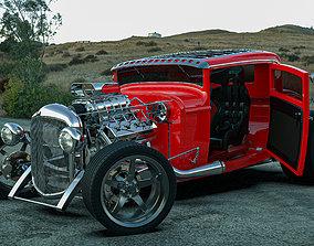 ford hotrod drag racer 3D model