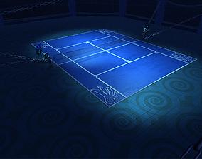 3D asset Judgement Court Tennis Arena