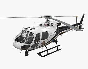 AS-350 Tulsa Police 3D model realtime