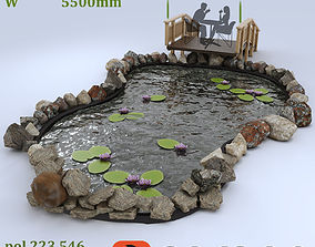 3D Decorative pond