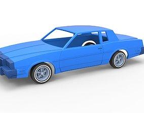 Diecast shell and wheels oldschool 3D print model 5