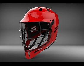 Lacrosse Helmet with Metal Facemask 3D