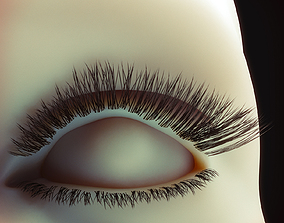 Eyelashes Low Poly 3D asset