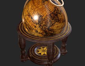 3D model Old Antique Standing Globe PBR