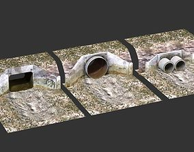 culverts industrial drainage factory 3D model