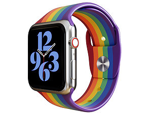 3D Apple Watch Series 6 Stainless Steel Silver 44