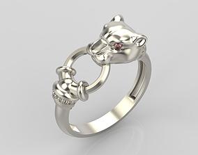 silver Pantera Ring 3D printable model