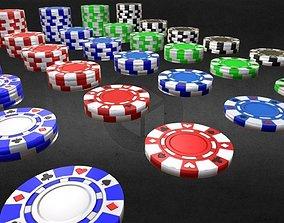 Poker Chip Set 3D asset