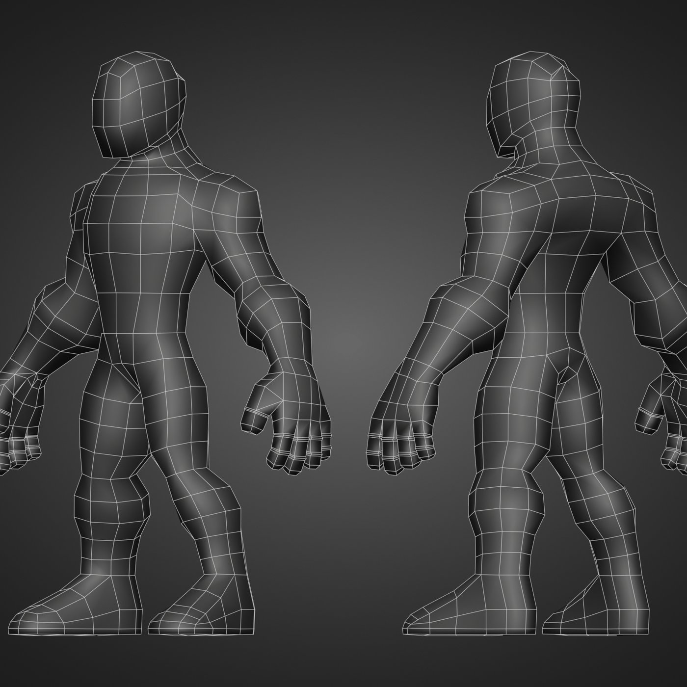 Base Mesh Stylized Character for Sculpt