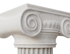Greek Pillar dirty and clean 3D model