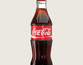 3D model realtime Coca Cola Drink Glass Bottle